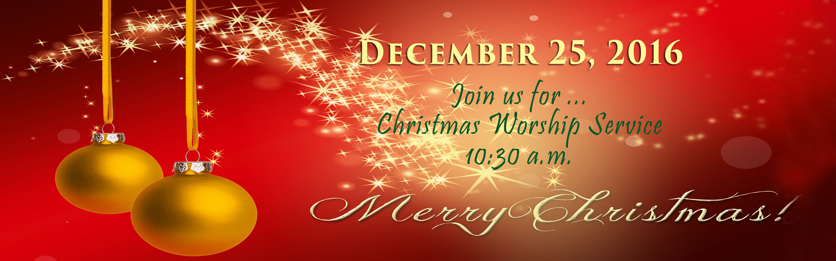 Merry Christmas Worship Service - Sunday Church Service - Inglewood First Presbyterian