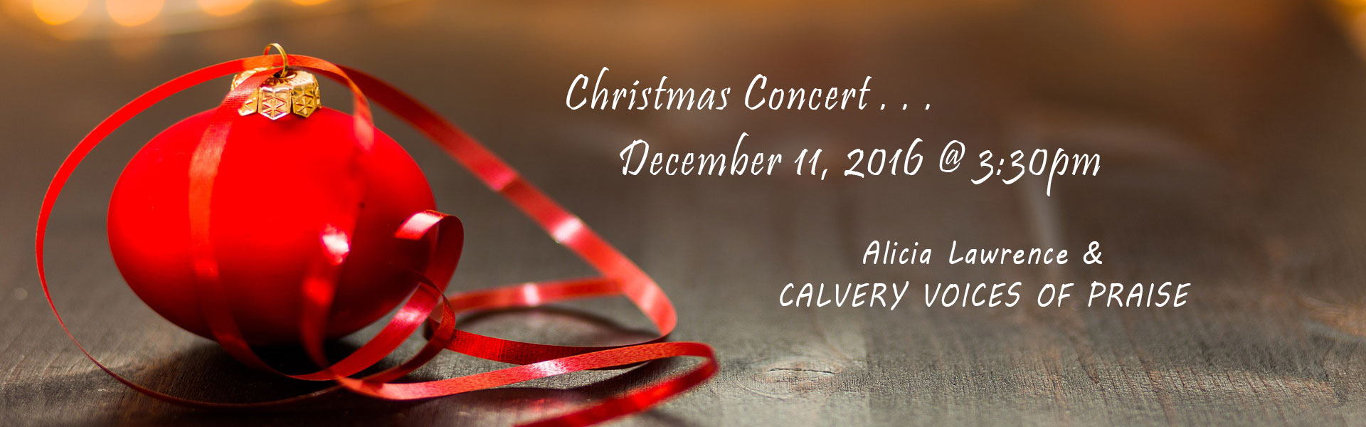 Alicia Lawrence and Calvary Voices of Praise + Christmas Concert in Inglewood, California + Los Angeles County