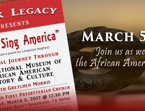 UPCOMING EVENT:  Black Legacy Discussion of the African American Journey – March 5, 2017