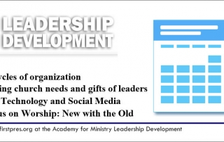 Church Leadership Development - Lydia MacDonald Academy of Ministry of the National Black Presbyterian Caucus (NBPC-SC)