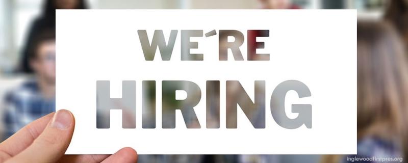 Job Available - We're Hiring at the church