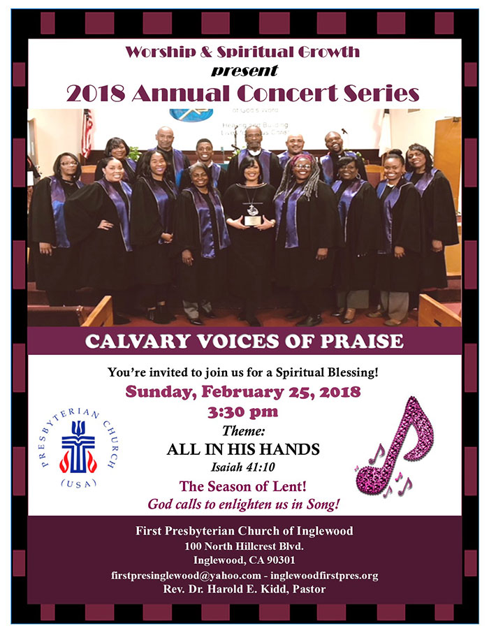 2018 Annual Concert Series: Calvary Voices of Praise