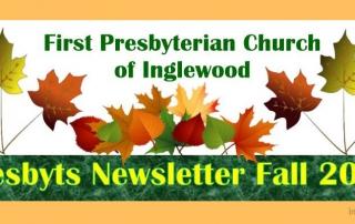 Presbyts Fall Newsletter - Church News