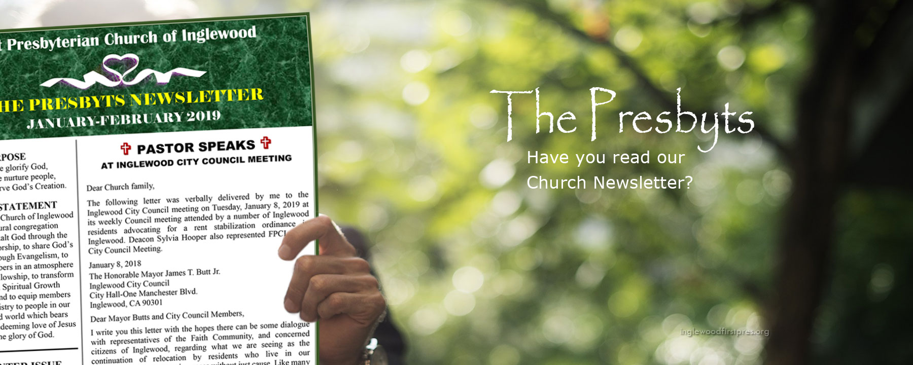 First Presbyterian Church of Inglewood Newsletter