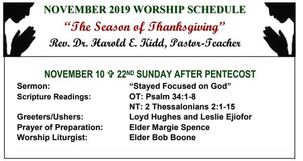 First Presbyterian Church of Inglewood's Worship schedule