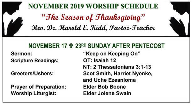 First Presbyterian Church of Inglewood's Worship schedule